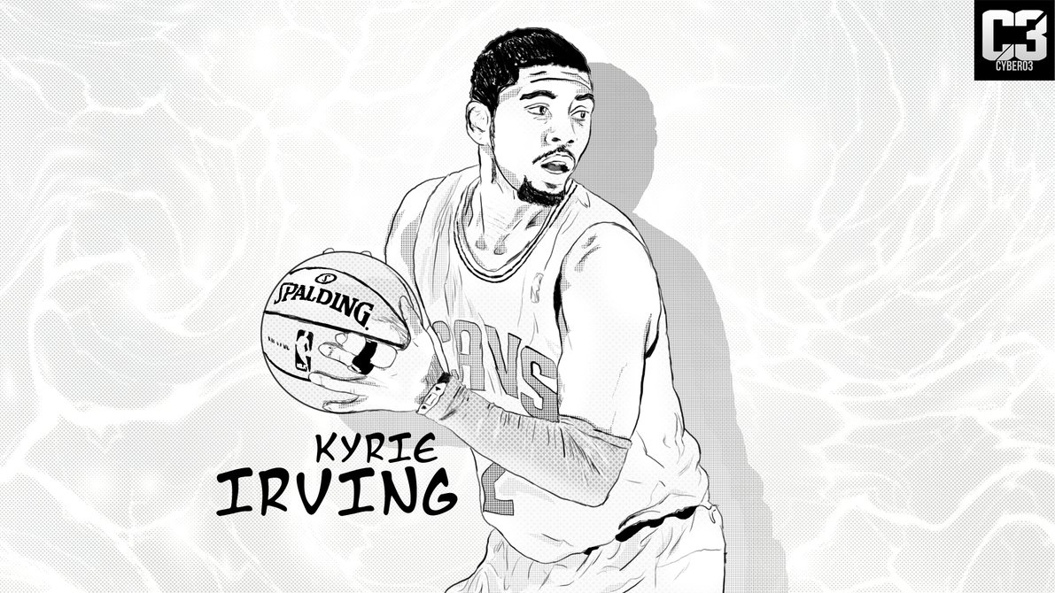 kyrie irving coloring pages - a3lyaWUgaXJ2aW5nIGRyYXdpbmc