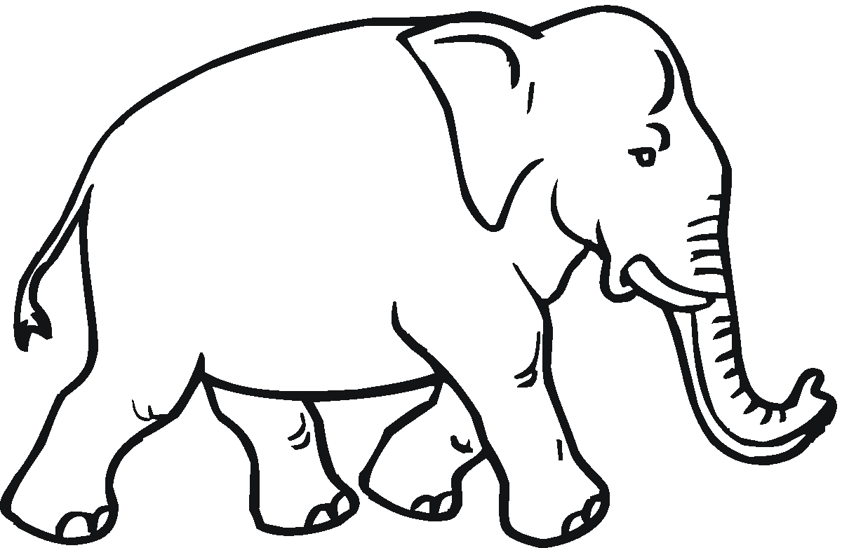 l coloring pages - elephant coloring pages