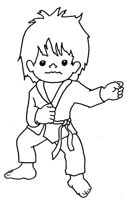 l coloring pages - taekwondo coloring pages