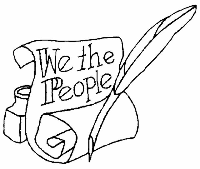 labor day coloring pages - constitution coloring page
