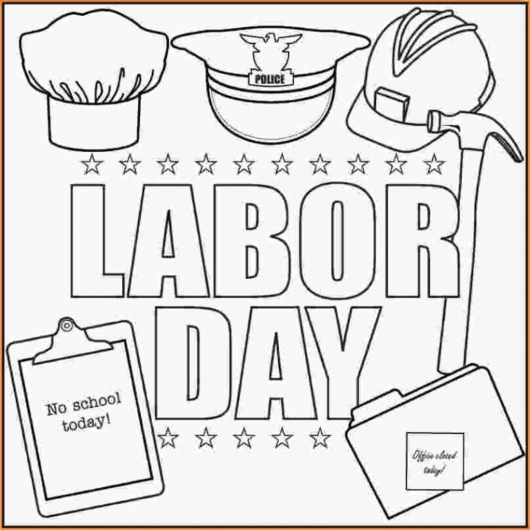 Labor Day Coloring Pages - Labor Day Coloring Pages Labor Day Graphics 15 Loan