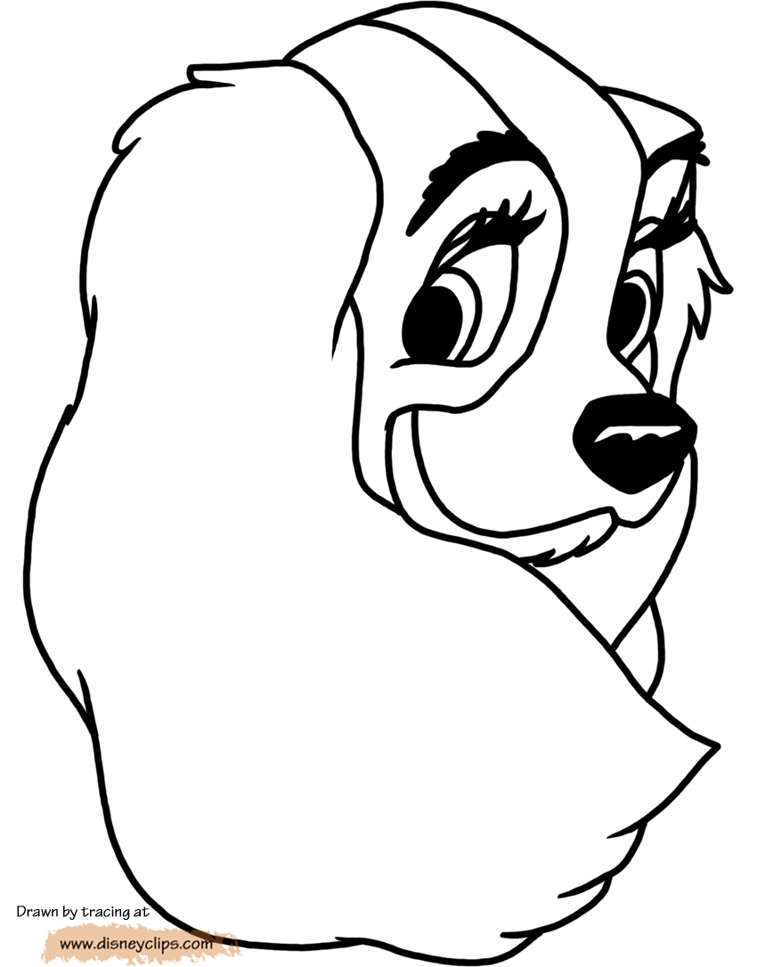 lady and the tramp coloring pages - ladyandthetrampcoloring