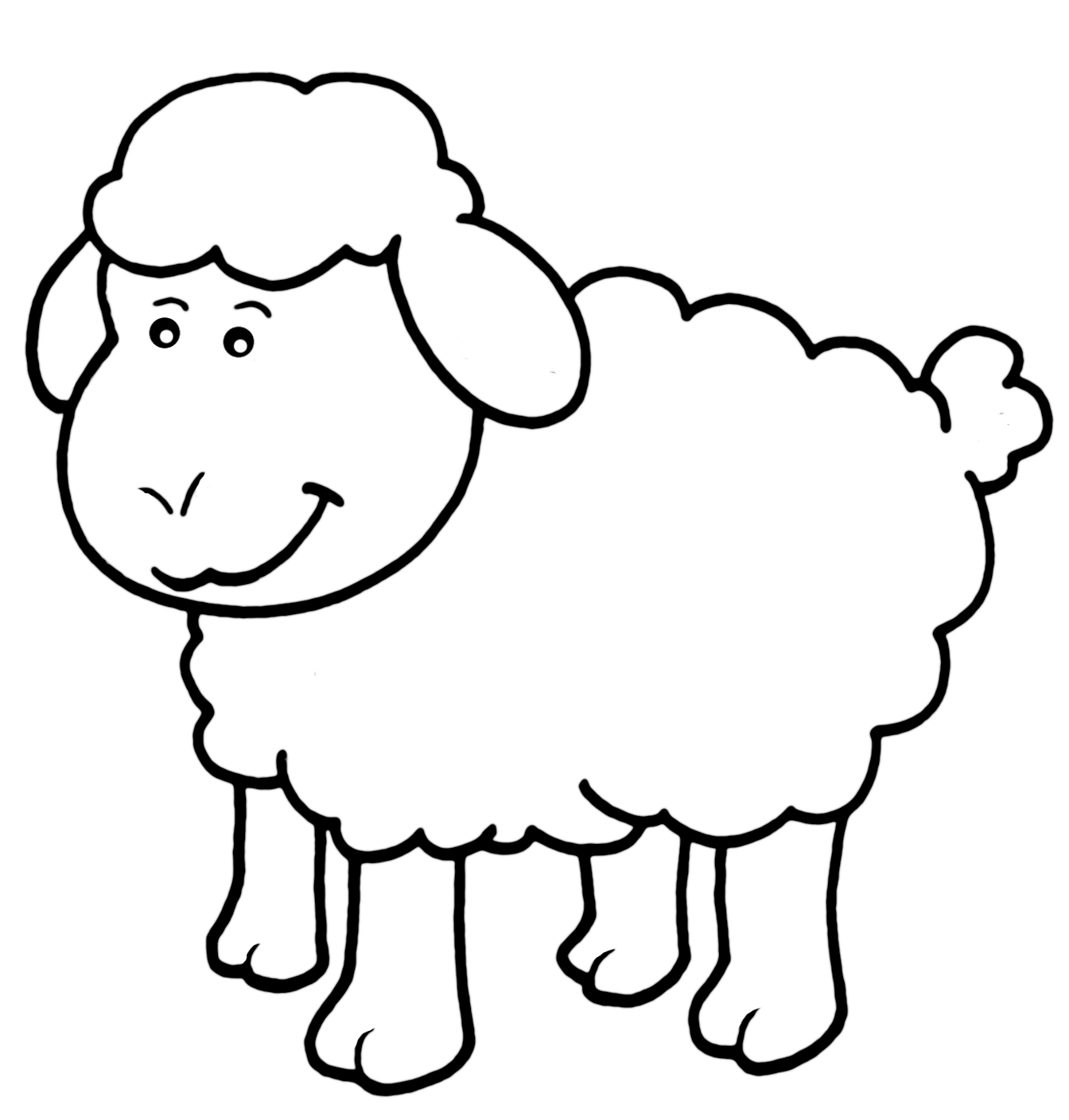 28 Lamb Coloring Page Collections