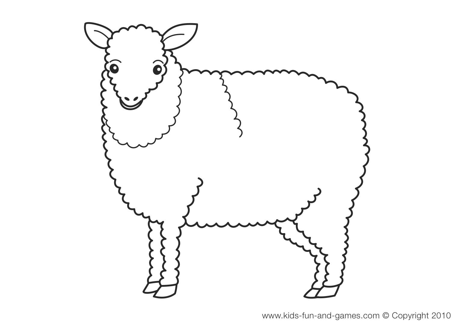Lamb Coloring Page - Lamb Farm Animals Coloring Pages Coloring Pages