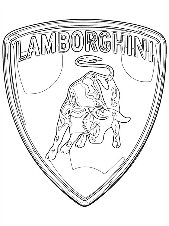 lamborghini coloring pages - lamborghini