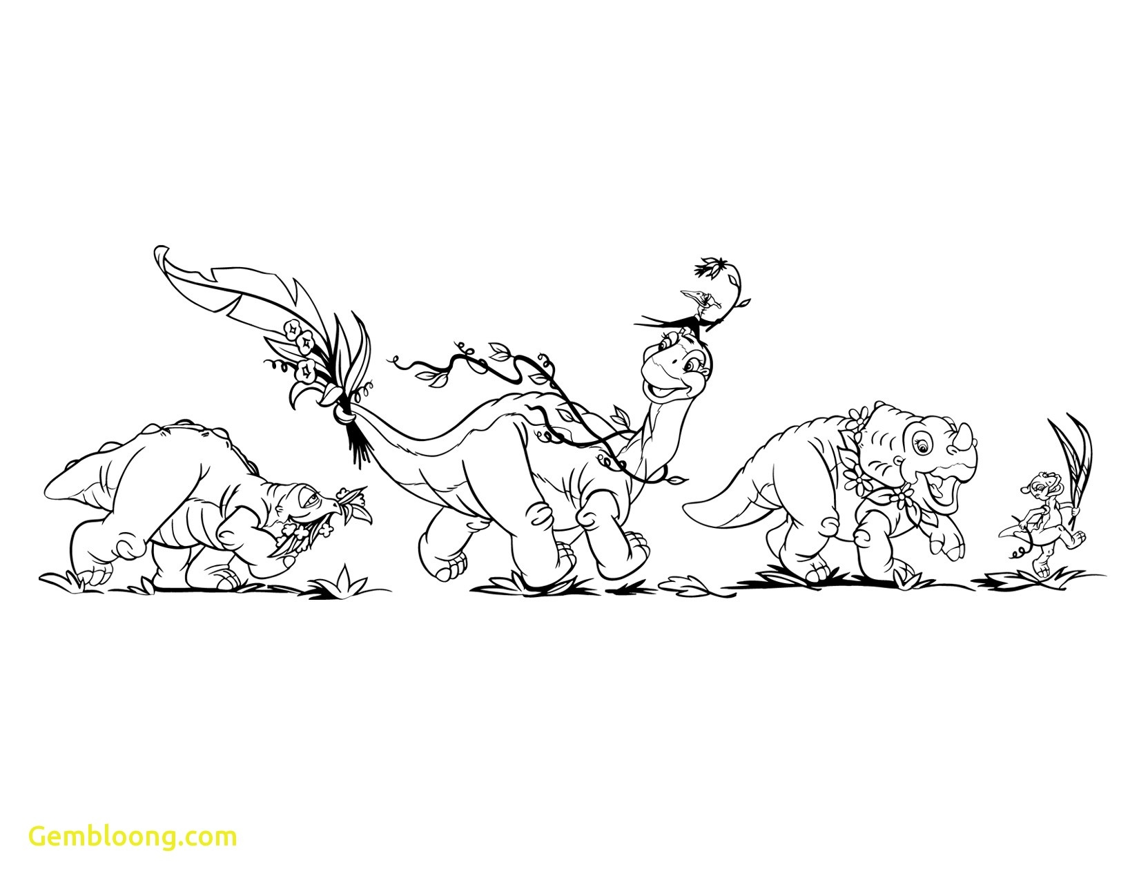 Land Before Time Dinosaur Ducky Coloring Page