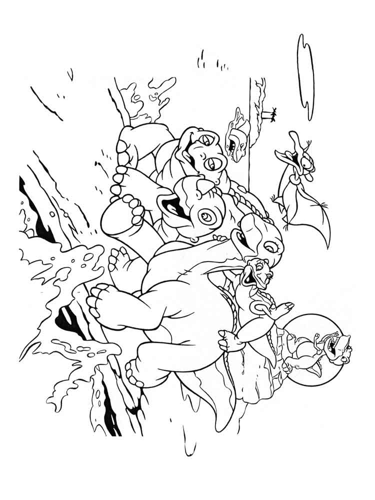 Land Before Time Coloring Pages Sharptooth 77802 | LOADTVE