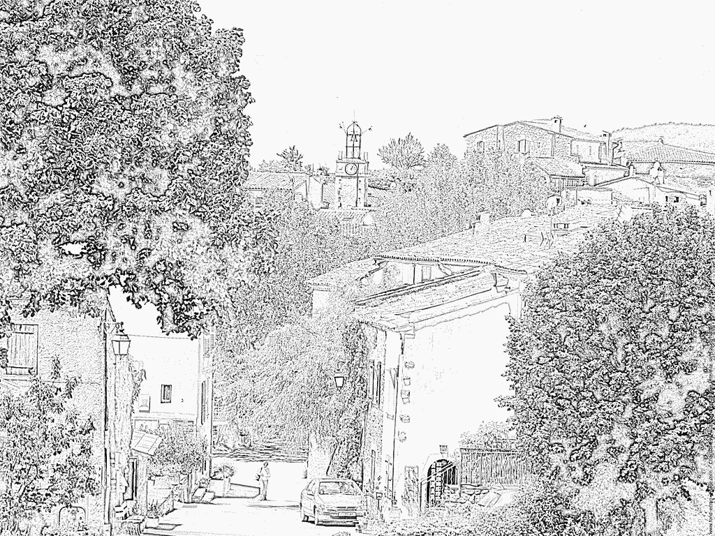 landscape coloring pages - coloring Landscape of the Var france var
