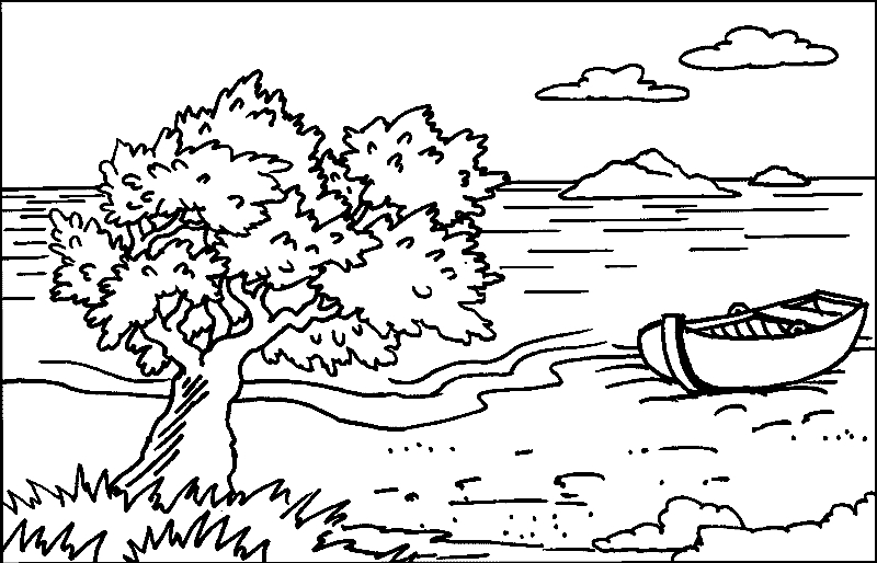 Landscape Coloring Pages - Landschaften