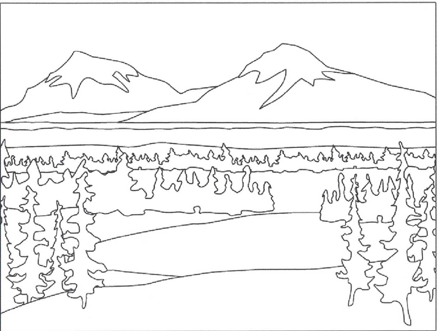 landscape coloring pages - simple nature coloring pages 1000 images about coloring pages on pinterest