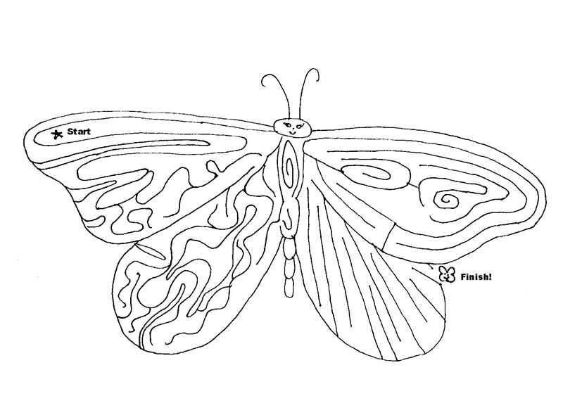 large coloring pages - 6 butterfly activitiestml