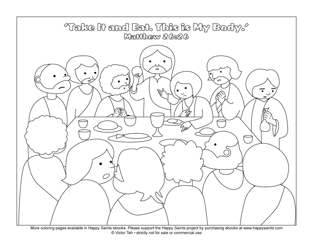 27 Last Supper Coloring Page Printable   FREE COLORING PAGES - Part 3