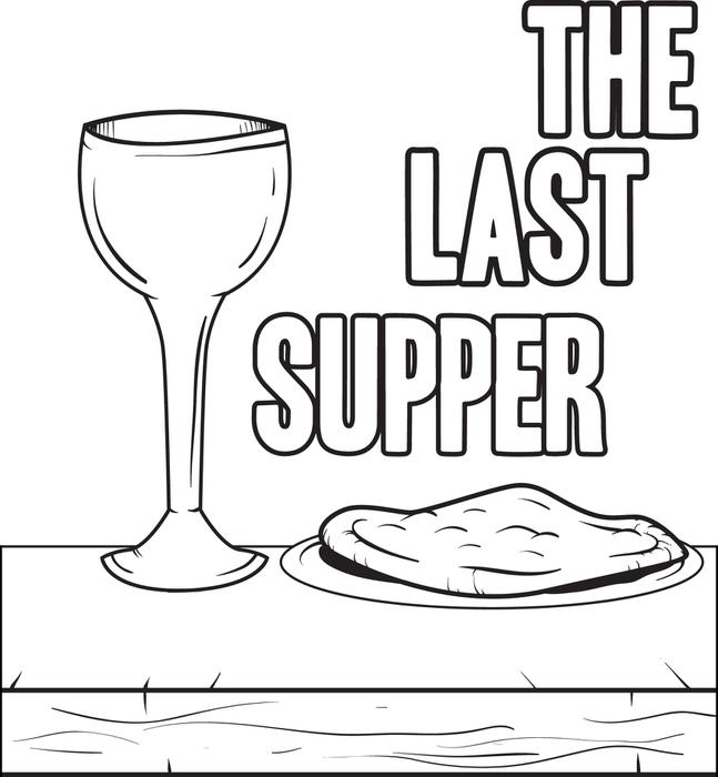 last supper coloring page - the last supper coloring page