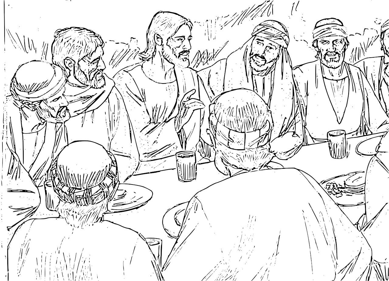 27 Last Supper Coloring Page Printable | FREE COLORING PAGES - Part 3