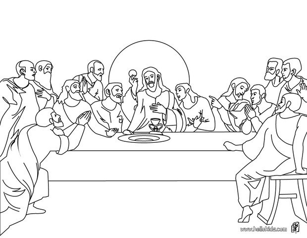 last supper coloring page - last supper coloring page