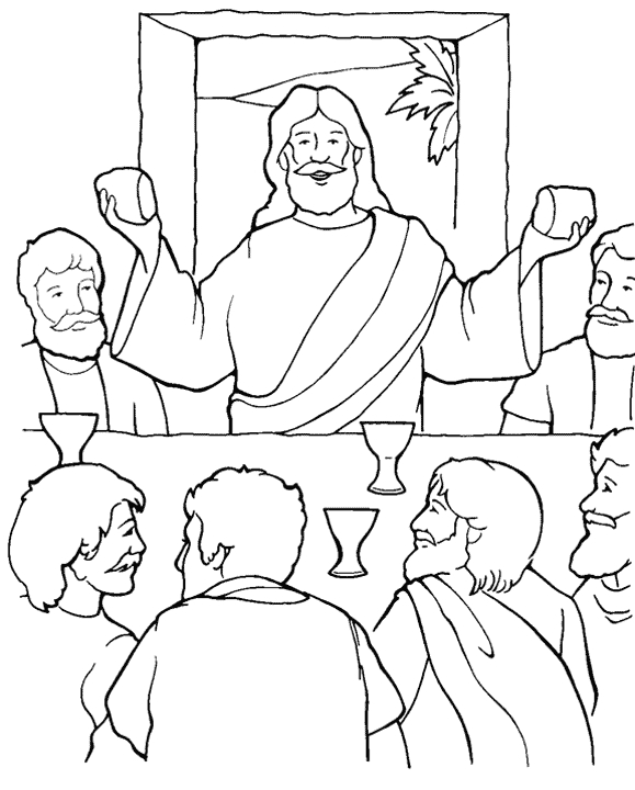 last supper coloring page - last supper colorpg