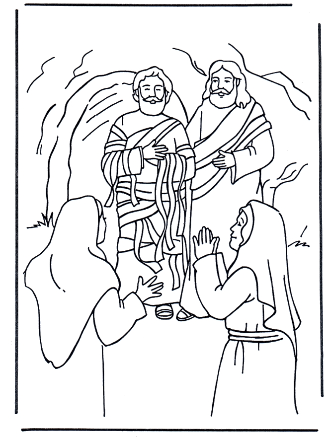 Lazarus Coloring Page - Free Coloring Pages Of with Jesus Lazarus