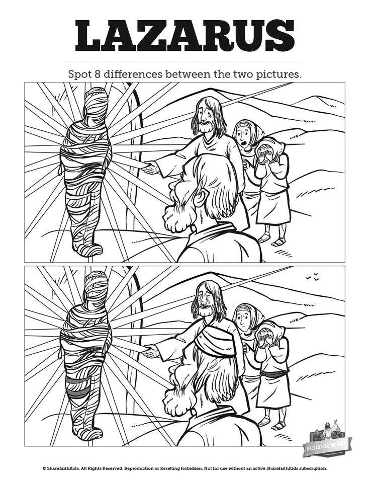 lazarus coloring page - lazarus coloring pages for kindergarten