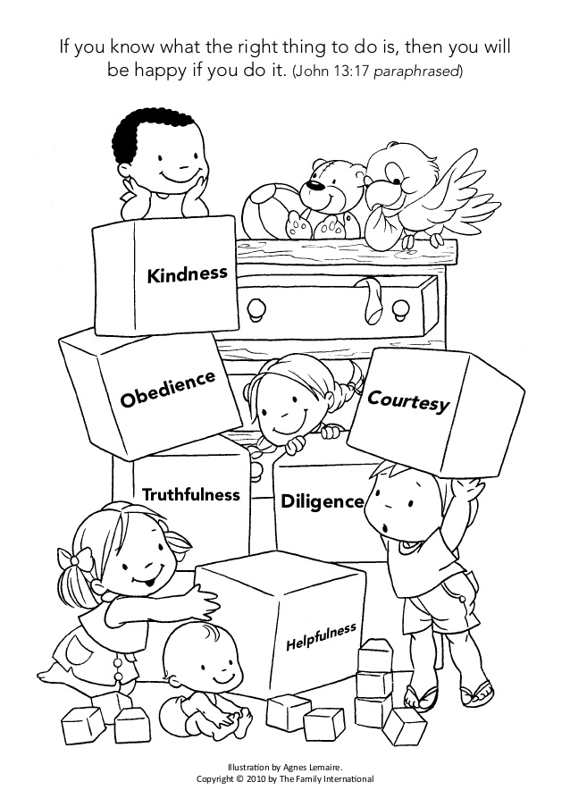 lds coloring pages - coloring page discipline helps me grow