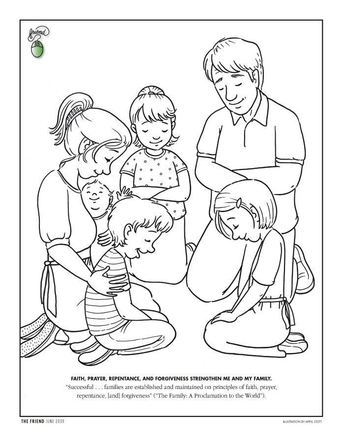 lds coloring pages - obey children coloring page