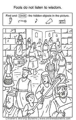 lds coloring pages - sunday school activities about wisdom
