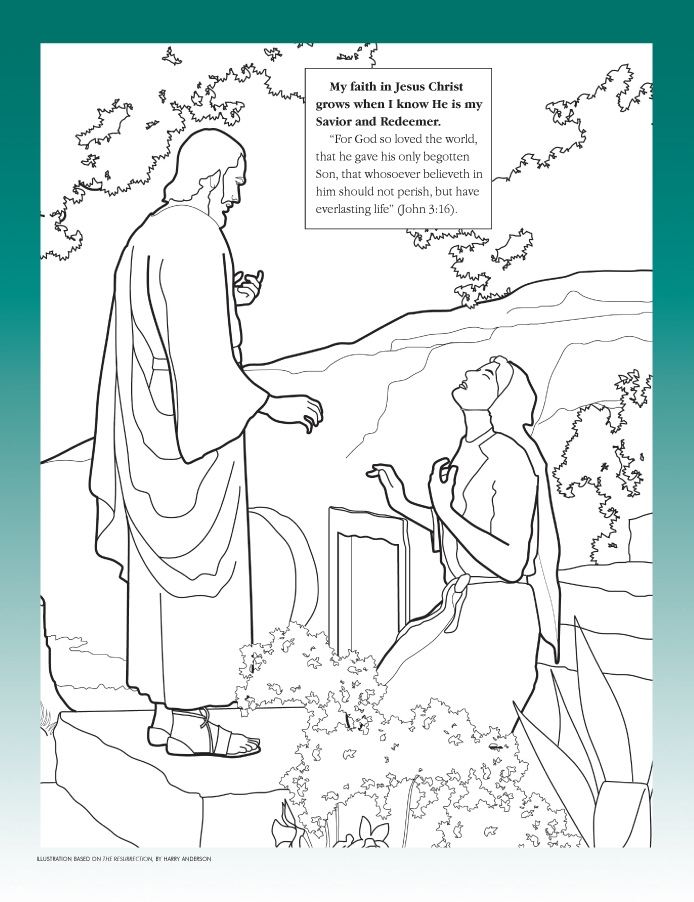 Lds Easter Coloring Pages - 301 Moved Permanently