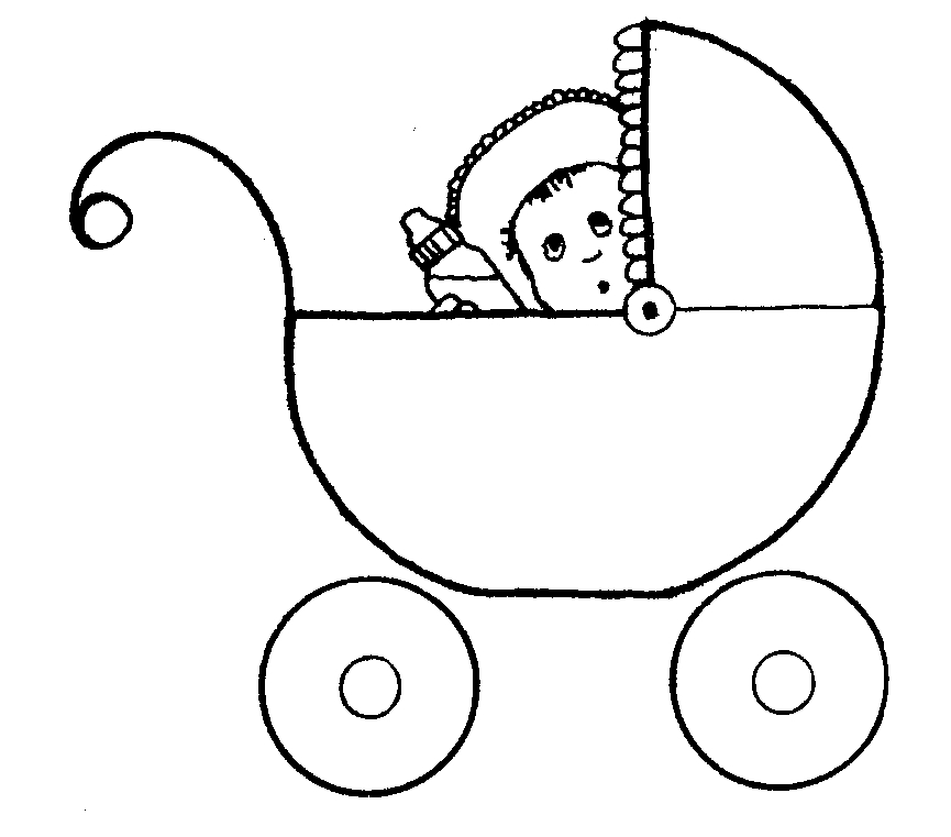lds primary coloring pages - baby in buggy