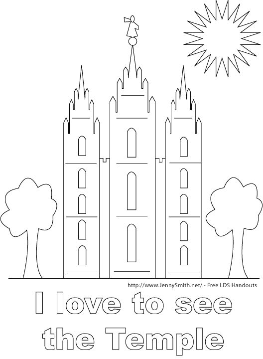 lds temple coloring pages - lds childrens coloring pages