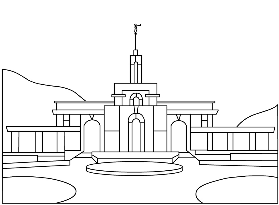 lds temple coloring pages - lds temple coloring page