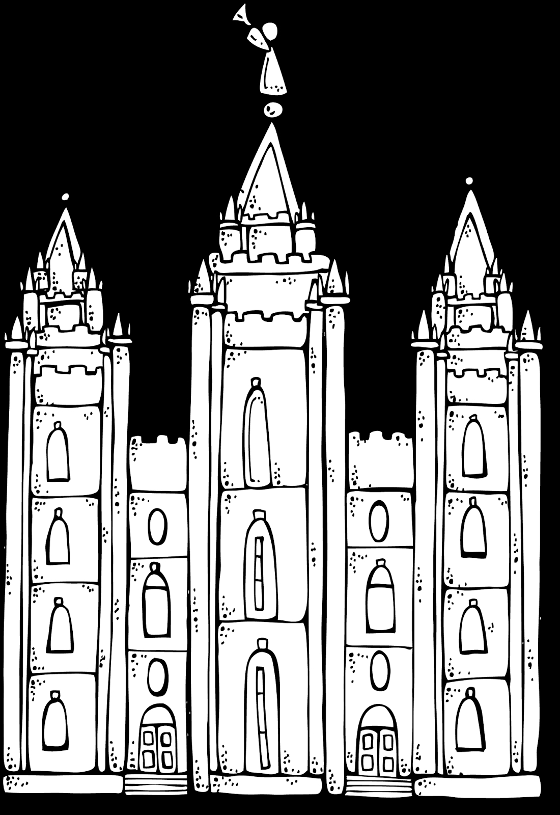 Lds Temple Coloring Pages - Melonheadz Lds Illustrating I Love to See the Temple