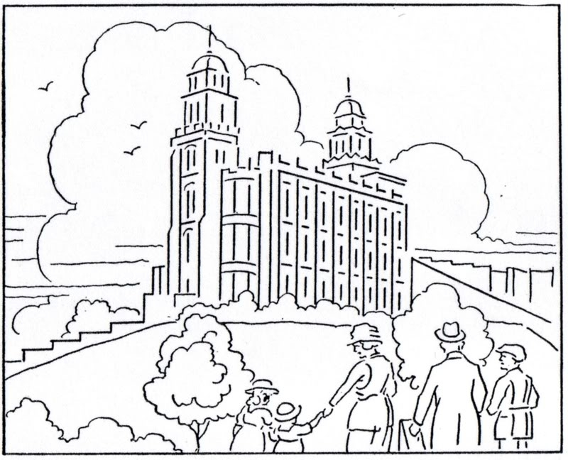 lds temple coloring pages - temple coloring page