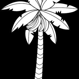 leaf coloring pages - banana tree leaf outline clipart clipartfox 3