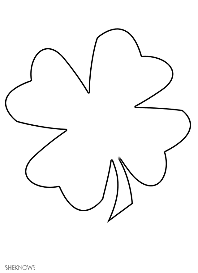 leaf coloring pages - clover leaf