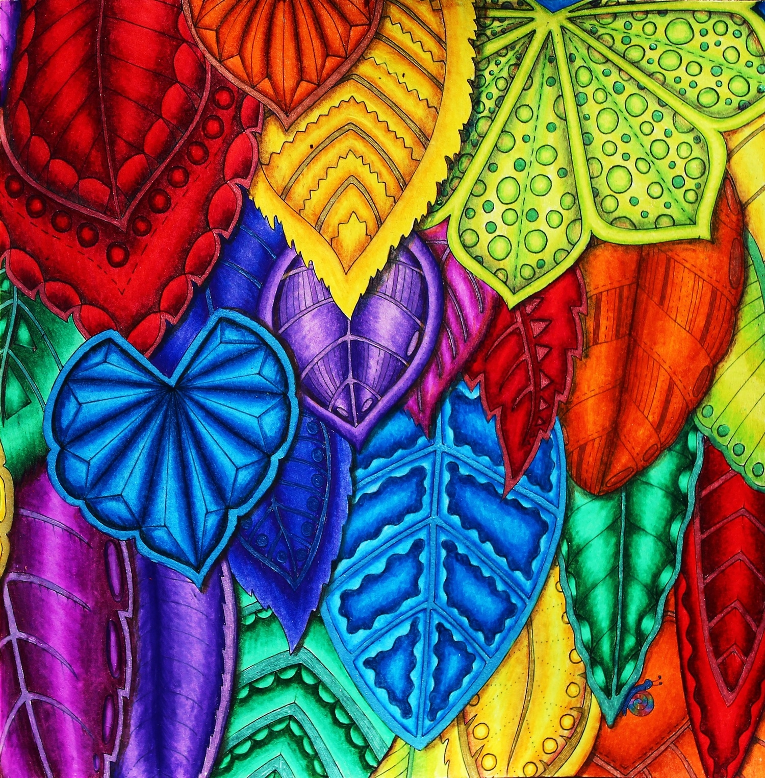 leaf coloring pages - coloring magical jungle