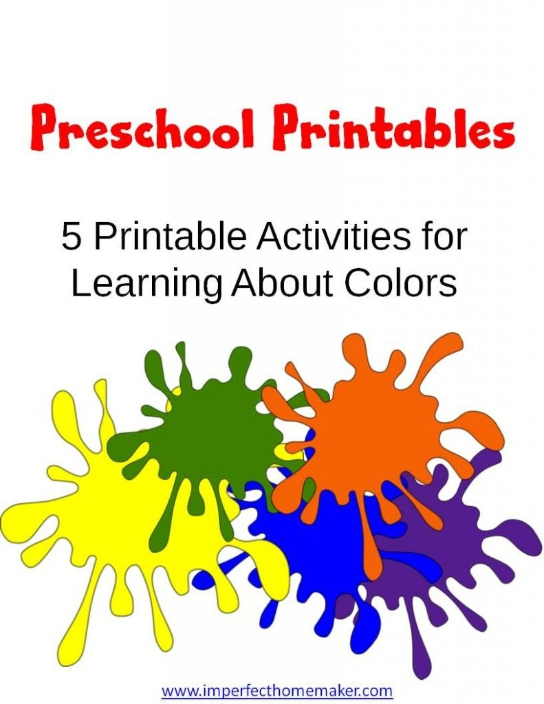 learning coloring pages - free preschool learning colors printables free homeschool deals 2