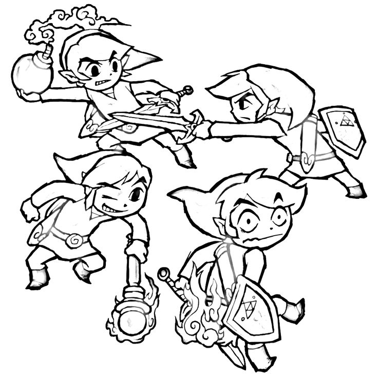 legend of zelda coloring pages -