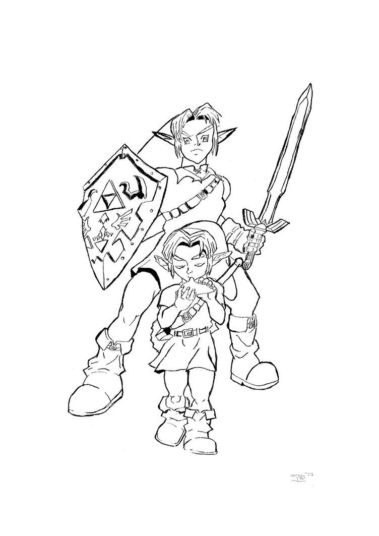 legend of zelda coloring pages - legend of zelda coloring pages