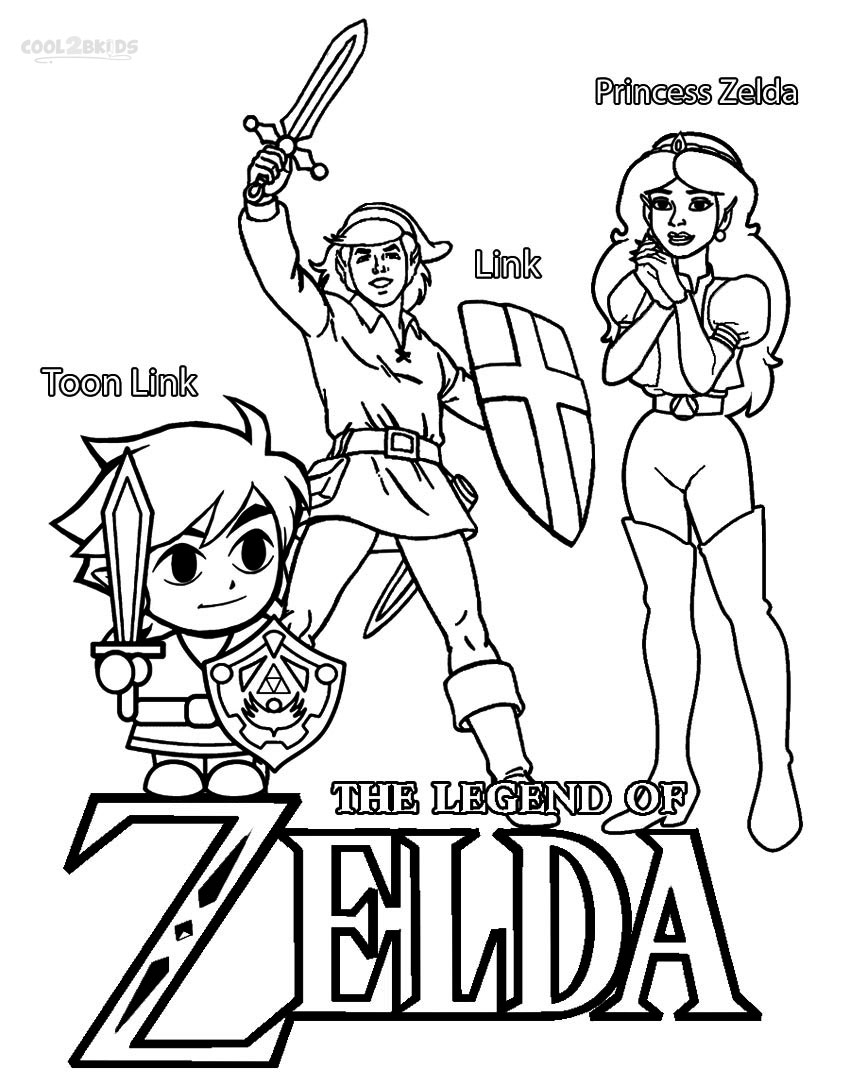 27 Legend Of Zelda Coloring Pages Collections | FREE COLORING PAGES