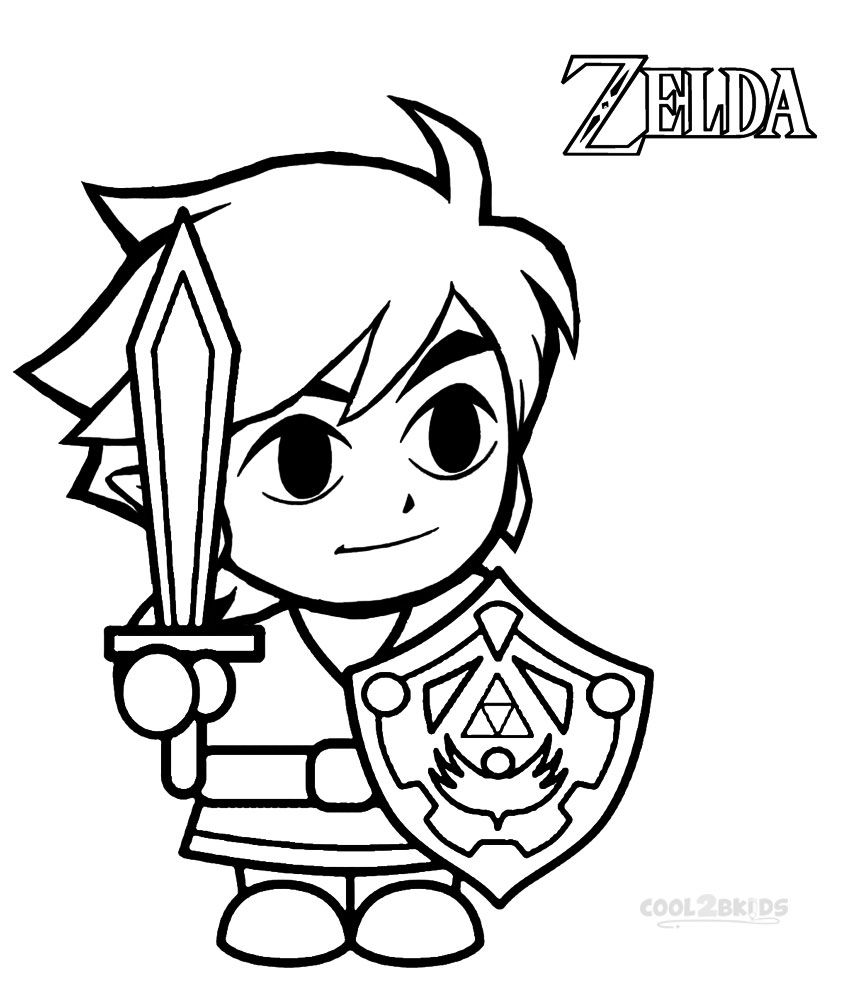 legend of zelda coloring pages - legend of zelda four swords coloring pages sketch templates