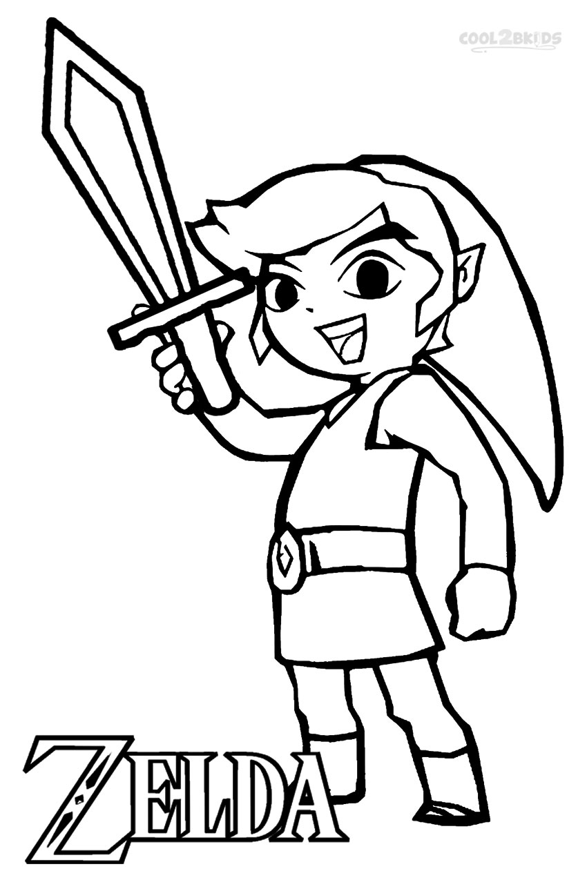 Legend Of Zelda Coloring Pages - Printable Zelda Coloring Pages for Kids