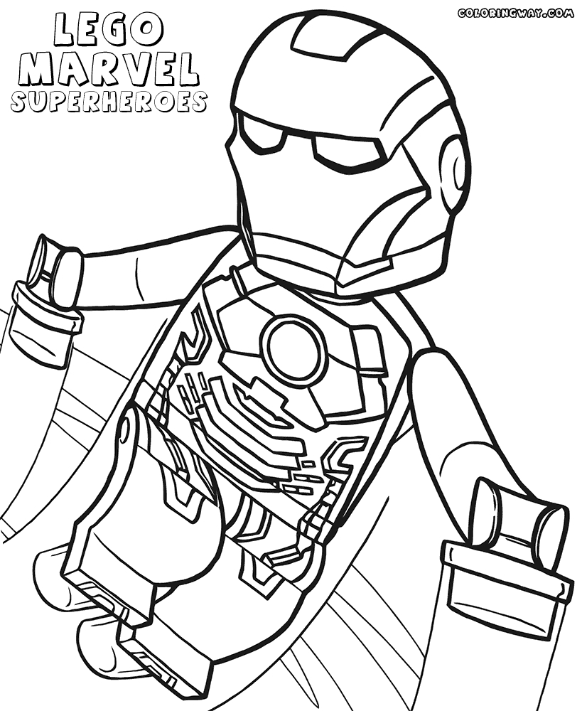 lego avengers coloring pages - free printable lego superhero coloring pages