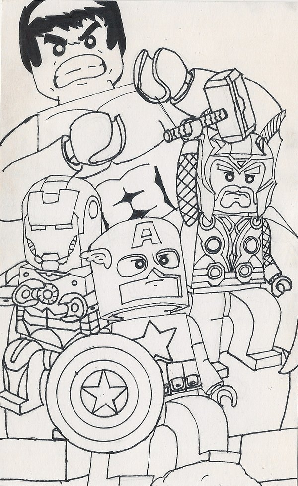 lego avengers coloring pages - s= lego avengers&page=1