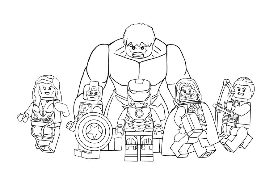 Lego Avengers Coloring Pages - Lego Avengers Free Coloring Pages
