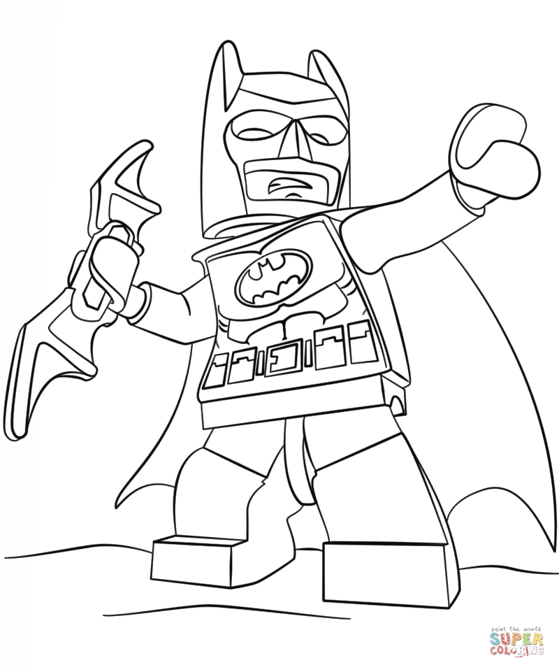 Lego Batman Coloring Pages - Lego Batman Coloring Page