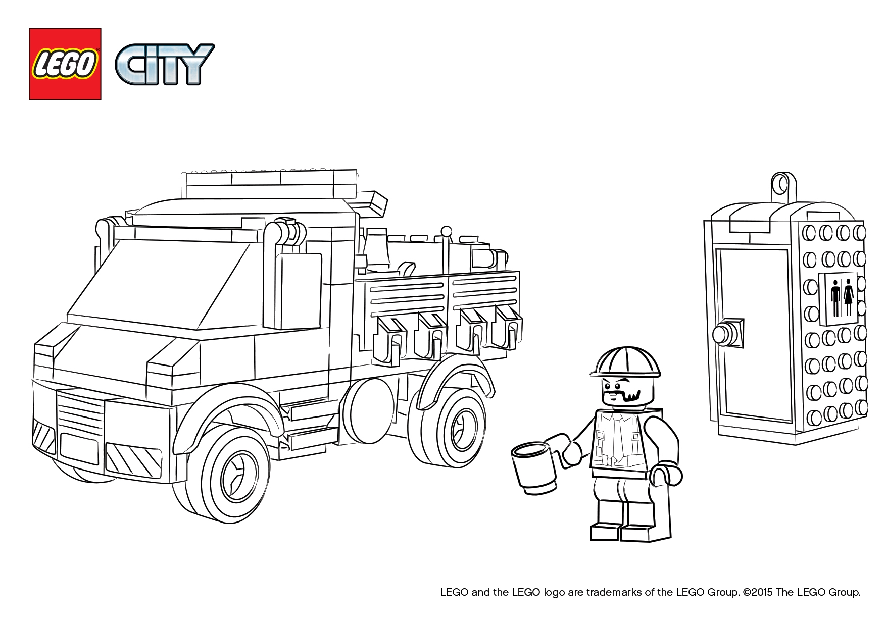 lego city coloring pages - q=lego police truck