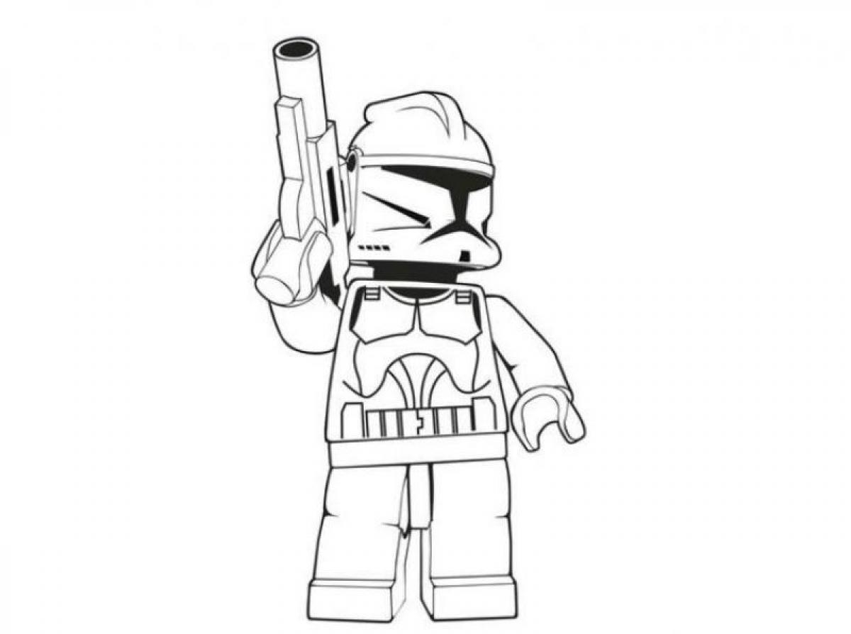 Lego Coloring Pages - Lego Stormtrooper Star Wars Coloring Pages Coloringsuite
