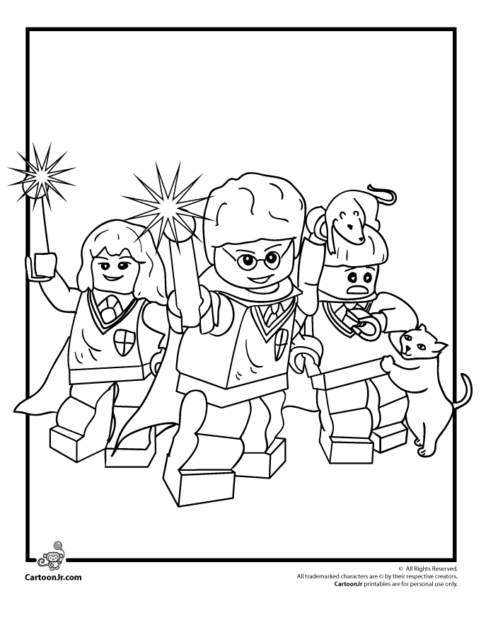 lego friends coloring pages - lego harry potter coloring