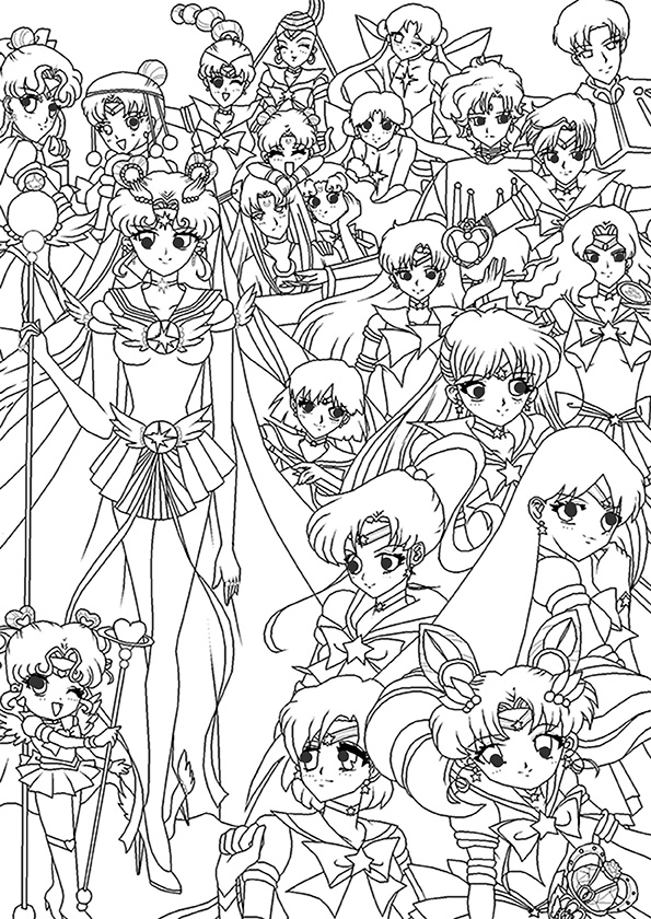 lego iron man coloring pages - sailor moon 5