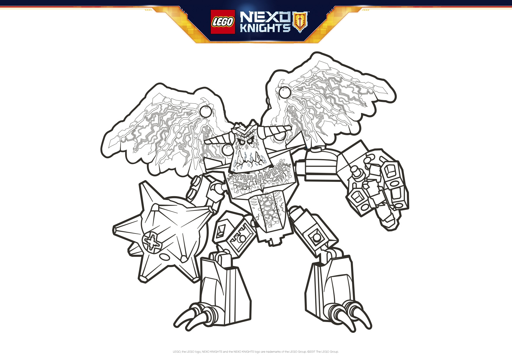 Ausmalbilder Nexo Knights Sparks : 28 Lego Nexo Knights Coloring Pages Compilation Free Coloring
