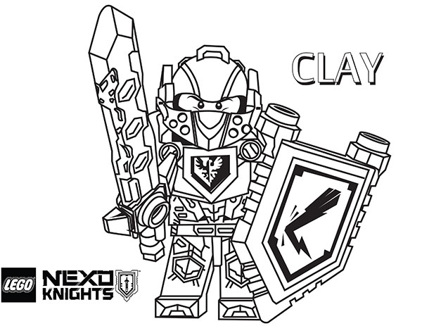Lego Nexo Knights Coloring Pages - Nexo Lego Knights Coloring Pages Sketch Coloring Page